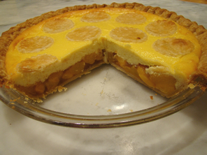 Peach and Cheesecake Pie