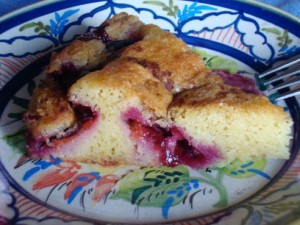 Serving of Plum Torte by Greg Patent: The Baking Wizard