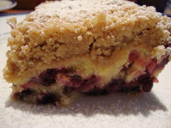 Huckleberry Crumb Cake