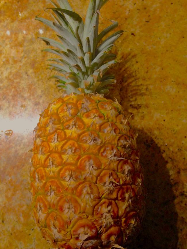 Fresh Pineapple Macadamia Crumb Cake