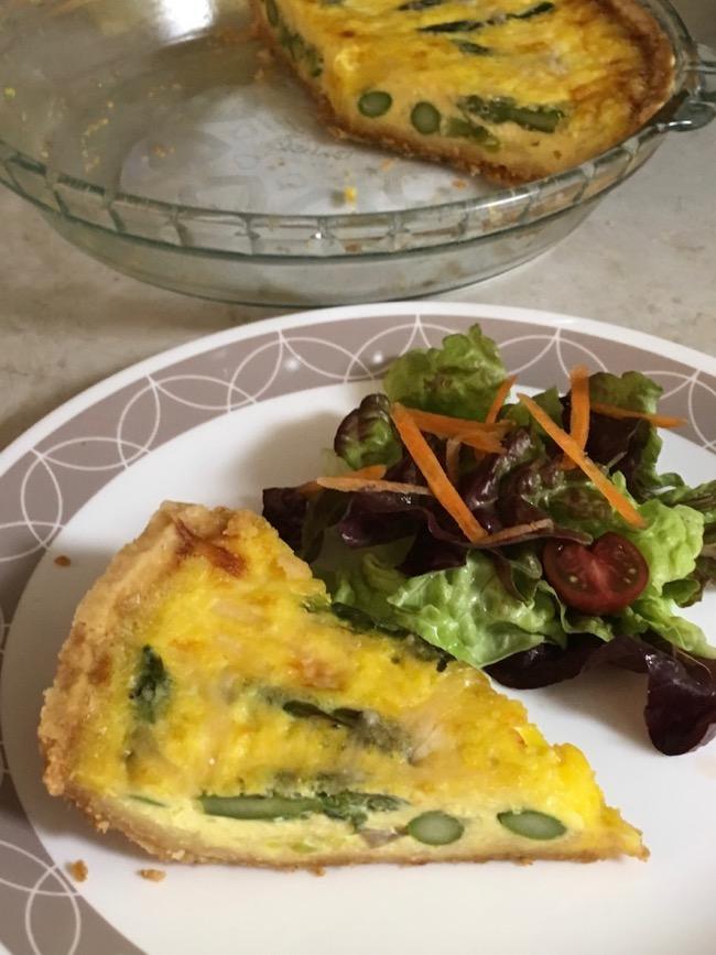 Easy Asparagus Quiche