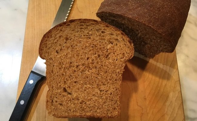 100% Whole Wheat Food Processor Sandwich Bread Explained