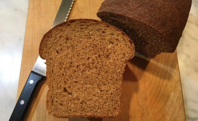 100% Whole Wheat Food Processor Sandwich Bread Explained