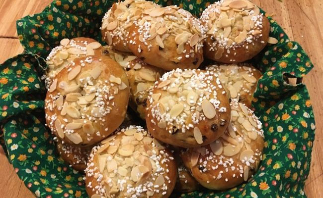 Pulla: Finnish Cardamom Raisin Yeast Bread