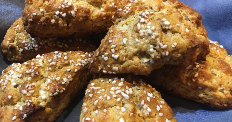 Ginger-Apple Cream Scones